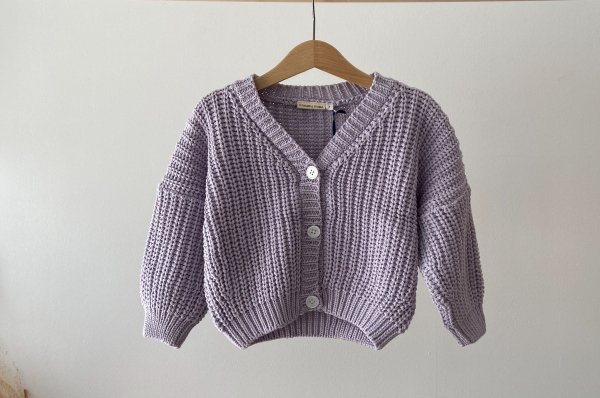 <img class='new_mark_img1' src='//img.shop-pro.jp/img/new/icons14.gif' style='border:none;display:inline;margin:0px;padding:0px;width:auto;' />summer&storm chunky cotton cardigan / lilac