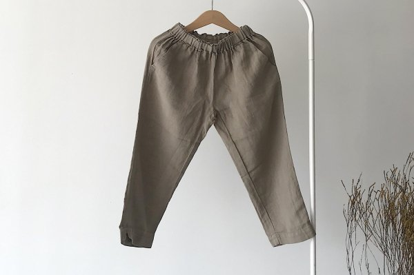 <img class='new_mark_img1' src='https://img.shop-pro.jp/img/new/icons16.gif' style='border:none;display:inline;margin:0px;padding:0px;width:auto;' />40%off 20ss MINGO Linen Trouser Laurel Oak
