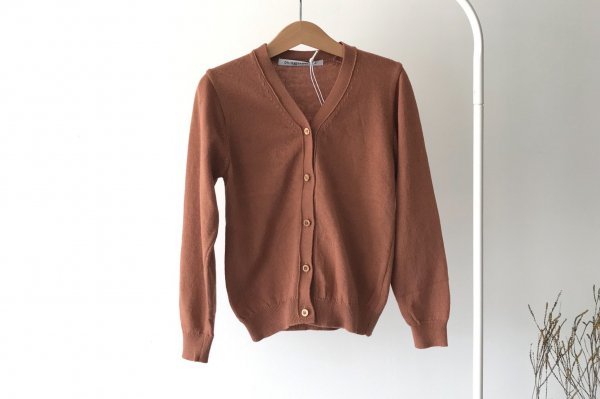 <img class='new_mark_img1' src='https://img.shop-pro.jp/img/new/icons16.gif' style='border:none;display:inline;margin:0px;padding:0px;width:auto;' />70%off 20ss MINGO Cardigan Mid Brown