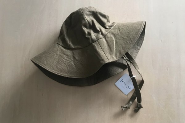 <img class='new_mark_img1' src='https://img.shop-pro.jp/img/new/icons14.gif' style='border:none;display:inline;margin:0px;padding:0px;width:auto;' />Small Lot  LINEN SUN HAT | MOSS