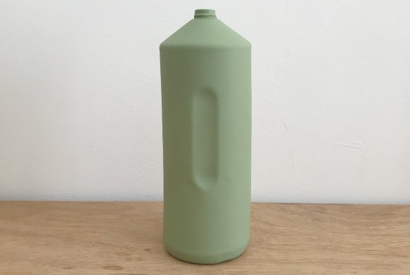 <img class='new_mark_img1' src='//img.shop-pro.jp/img/new/icons14.gif' style='border:none;display:inline;margin:0px;padding:0px;width:auto;' />Foekje Fleur porcelain bottle vase #2 dark green