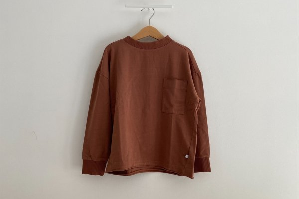 <img class='new_mark_img1' src='//img.shop-pro.jp/img/new/icons14.gif' style='border:none;display:inline;margin:0px;padding:0px;width:auto;' />AW20 Repose.AMS  Sweat tee warm chocolate