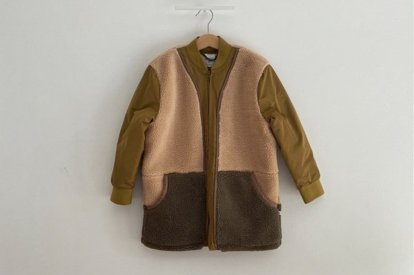 <img class='new_mark_img1' src='https://img.shop-pro.jp/img/new/icons14.gif' style='border:none;display:inline;margin:0px;padding:0px;width:auto;' />AW20 Repose.AMS Teddy bomber coat khaki color block
