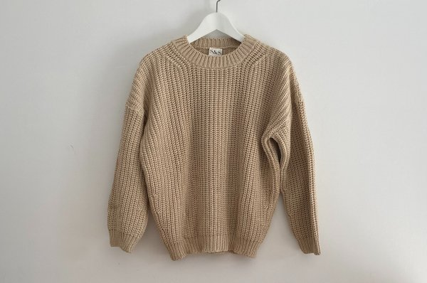 <img class='new_mark_img1' src='https://img.shop-pro.jp/img/new/icons14.gif' style='border:none;display:inline;margin:0px;padding:0px;width:auto;' />AW20 summer&storm  Woman CHUNKY PULLOVER /  NATURAL
