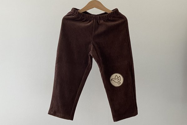 <img class='new_mark_img1' src='https://img.shop-pro.jp/img/new/icons16.gif' style='border:none;display:inline;margin:0px;padding:0px;width:auto;' />40%off  Like lou  Cropped Corduroy Pants / Brown Dove Patch