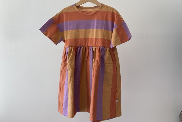 <img class='new_mark_img1' src='https://img.shop-pro.jp/img/new/icons14.gif' style='border:none;display:inline;margin:0px;padding:0px;width:auto;' />21SS Repose.AMS   Simple Dress / Ss Peachy Lavender Block Stripe