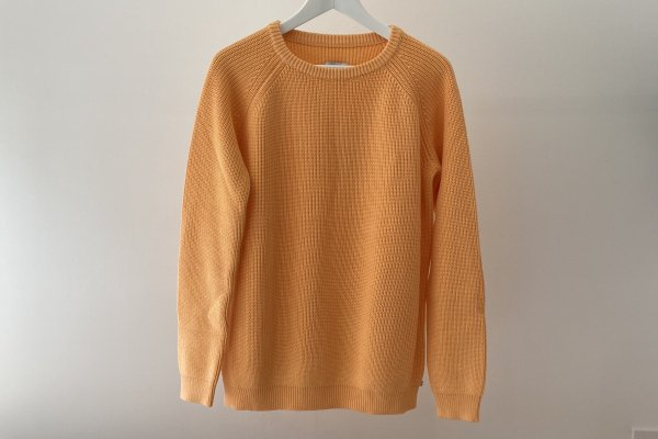 <img class='new_mark_img1' src='https://img.shop-pro.jp/img/new/icons14.gif' style='border:none;display:inline;margin:0px;padding:0px;width:auto;' />21SS Repose.AMS Knit Sweater / Orange Yellow 16Y