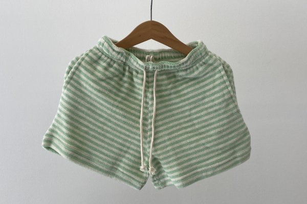 <img class='new_mark_img1' src='https://img.shop-pro.jp/img/new/icons14.gif' style='border:none;display:inline;margin:0px;padding:0px;width:auto;' />Summer&Storm Terry Long Shorts / Pastel Green Stripe 2Y-6Y