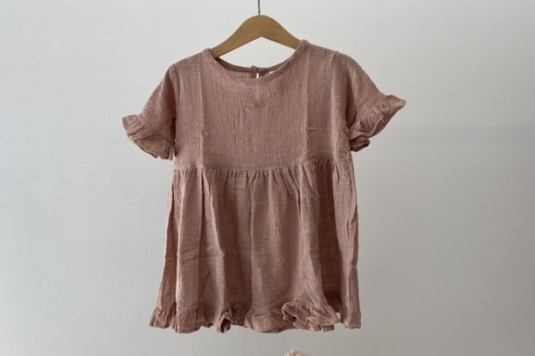 <img class='new_mark_img1' src='https://img.shop-pro.jp/img/new/icons14.gif' style='border:none;display:inline;margin:0px;padding:0px;width:auto;' />Summer&Storm COTTON FRILL DRESS BLUSH