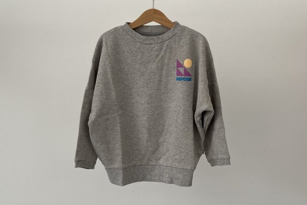 <img class='new_mark_img1' src='https://img.shop-pro.jp/img/new/icons14.gif' style='border:none;display:inline;margin:0px;padding:0px;width:auto;' />21AW Repose.AMS  Crewneck Sweater / Light mixed grey