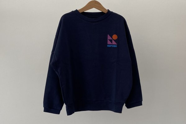 <img class='new_mark_img1' src='https://img.shop-pro.jp/img/new/icons14.gif' style='border:none;display:inline;margin:0px;padding:0px;width:auto;' />21AW Repose.AMS  Crewneck Sweater / Dark night blue