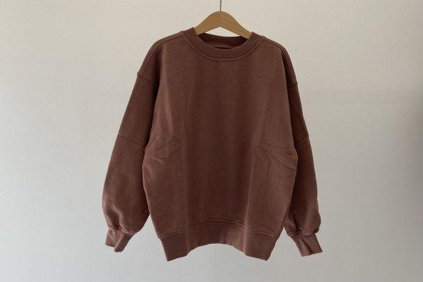 <img class='new_mark_img1' src='https://img.shop-pro.jp/img/new/icons14.gif' style='border:none;display:inline;margin:0px;padding:0px;width:auto;' />21AW Main Story Oversized Sweatshirt - Cognac