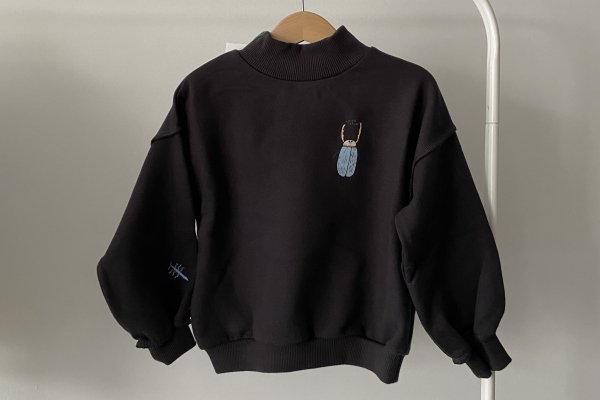 <img class='new_mark_img1' src='https://img.shop-pro.jp/img/new/icons14.gif' style='border:none;display:inline;margin:0px;padding:0px;width:auto;' />21AW afyny Patches Deer Beetle Sweatshirts