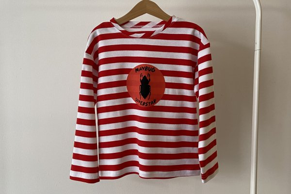 <img class='new_mark_img1' src='https://img.shop-pro.jp/img/new/icons14.gif' style='border:none;display:inline;margin:0px;padding:0px;width:auto;' />21AW afyny Maybug Striped Longsleeve T-shirts Red