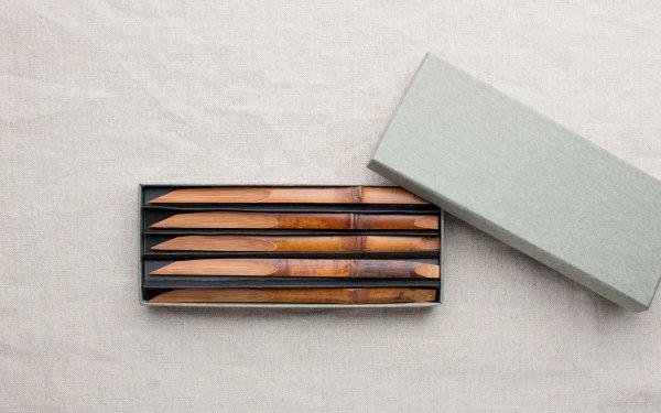 煤竹の菓子切 | 5本セット