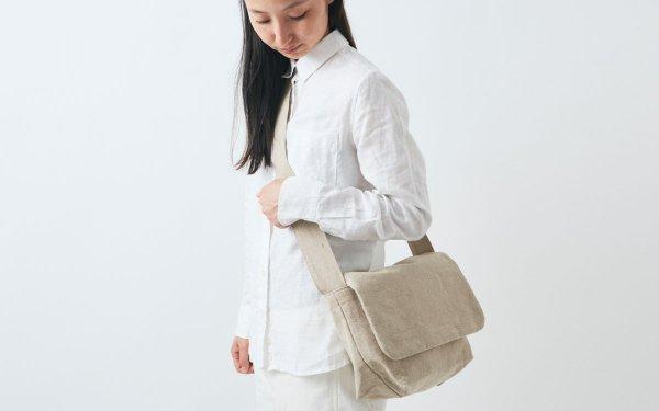 【受注生産】リネン帆布のショルダーバッグ