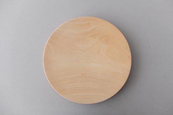 【再入荷】ろくろ挽きの木皿 栃(とち)の木 8寸(24cm)