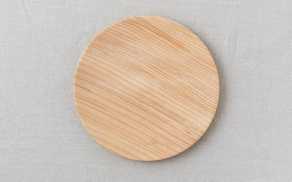 【受注生産】ろくろ挽きの木皿 樅(もみ)の木 6寸(18cm)