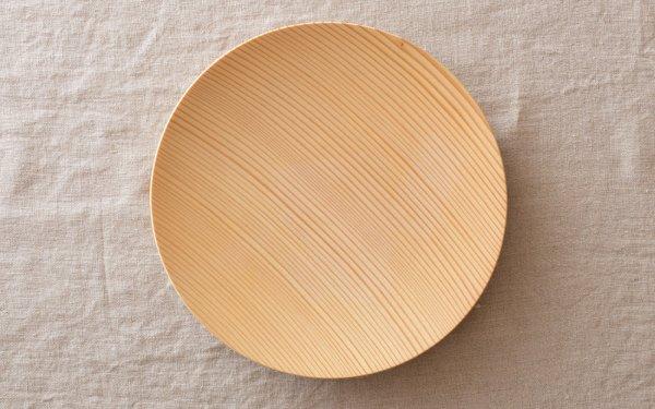 【受注生産】ろくろ挽きの木皿 樅(もみ)の木 7寸(21cm)