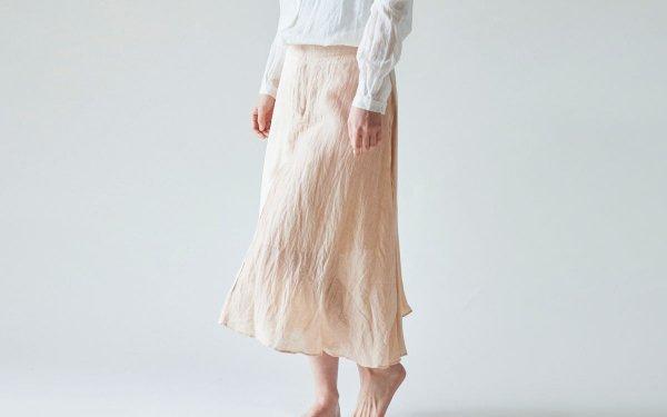 enrica longskirt004 pinkbeige / natural dye / size38