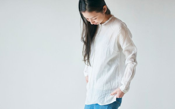 【sold out】enrica cottonsilk blouse natural