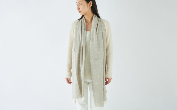 【sale】enrica organiccotton scarf / natural (beige)