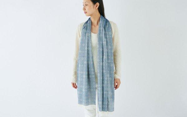 【sale】enrica organiccotton scarf / indigo