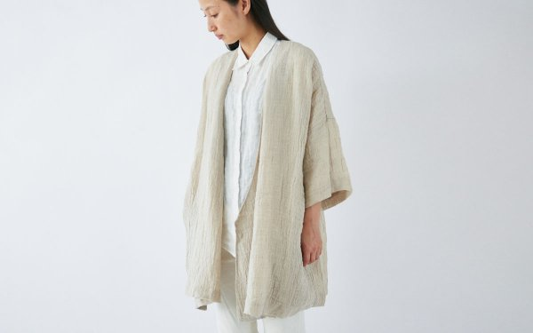 enrica linen coat / natural (beige)