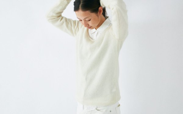 【sold out】enrica mohair&silk knit / natural (offwhite)