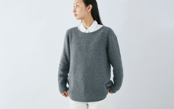 【sold out】enrica cashmere&wool knit / dark gray