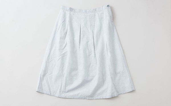 enrica cottonflannel skirt / lightgrey (botanical dye)