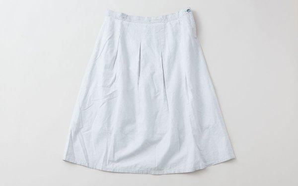 enrica cottonflannel skirt / lightgrey (botanical dye)