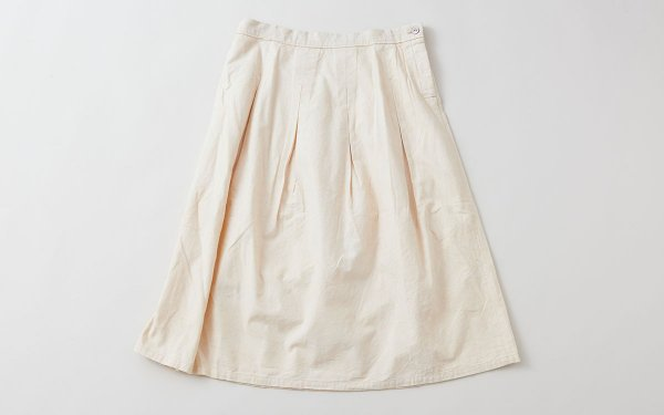 enrica cottonflannel skirt / ivory (botanical dye)