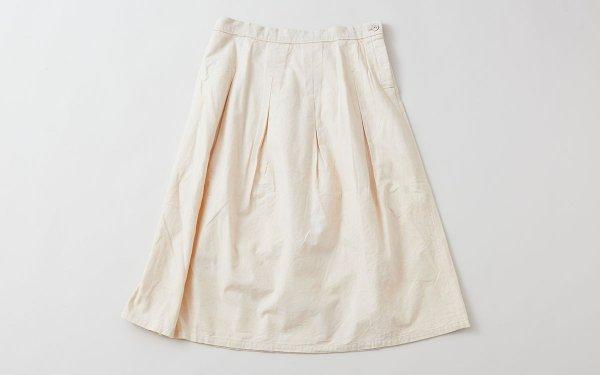 enrica cottonflannel skirt / ivory (botanical dye)
