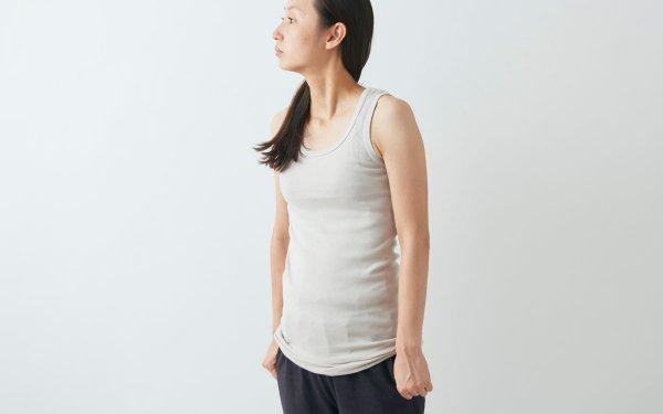 yohaku 5本針タンクトップ|3色+新色black|ladies