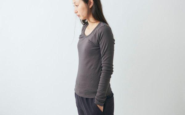 yohaku 5本針長袖カットソー|3色+新色black|ladies
