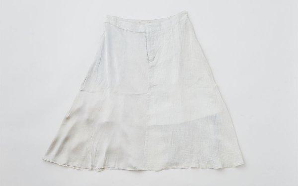 enrica longskirt004 icegrey / natural dye  / size40/42