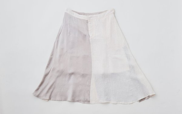 enrica longskirt004 greypink / natural dye  / size40/42