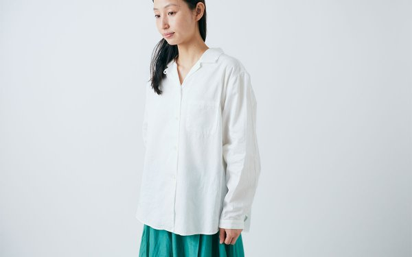 【sold out】enrica×かぐれ cottonshirt(sheerwhite)