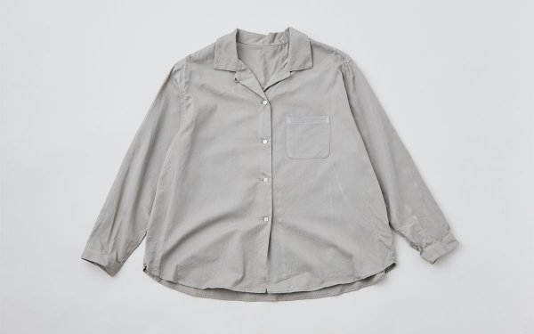 【sold out】enrica×かぐれ cottonshirt(earthgrey)
