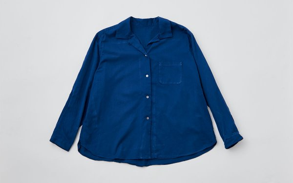 【sold out】enrica×かぐれ cottonshirt(nightnavy)