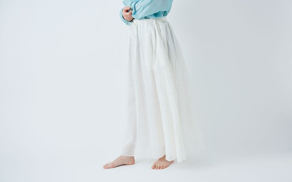 enrica cottonsilk skirt / natural