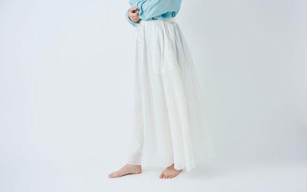 enrica cottonsilk skirt / natural