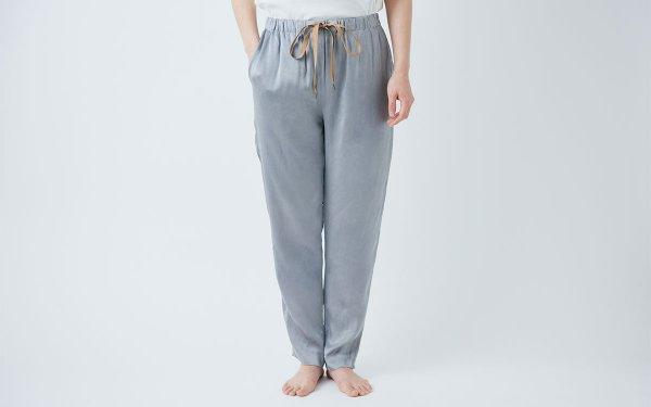 【new】enrica silk pants grey / natural dye
