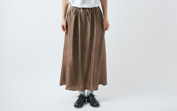 enrica silkskirt010 brown / botanical dye