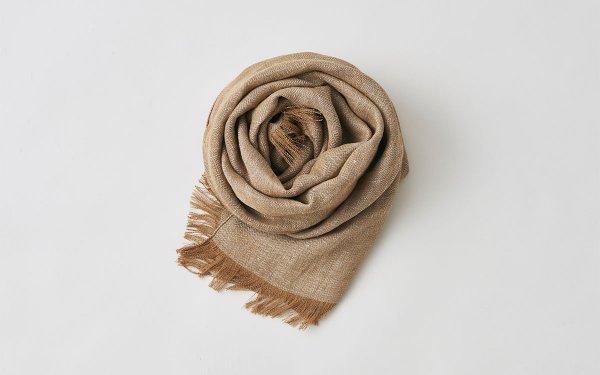 enrica linen stole|herringbone|camel