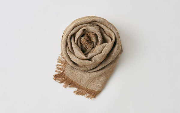 【sold out】enrica linen stole|herringbone|camel