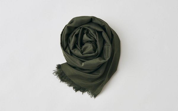 enrica cottonsilk scarf kahki / natural dye