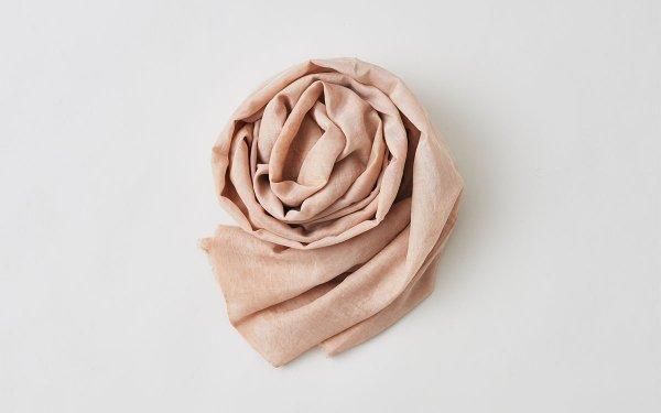 enrica cottonsilk scarf pinkbeige / natural dye