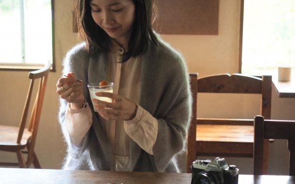 enrica mohair&silk gown / icegrey (botanical dye)